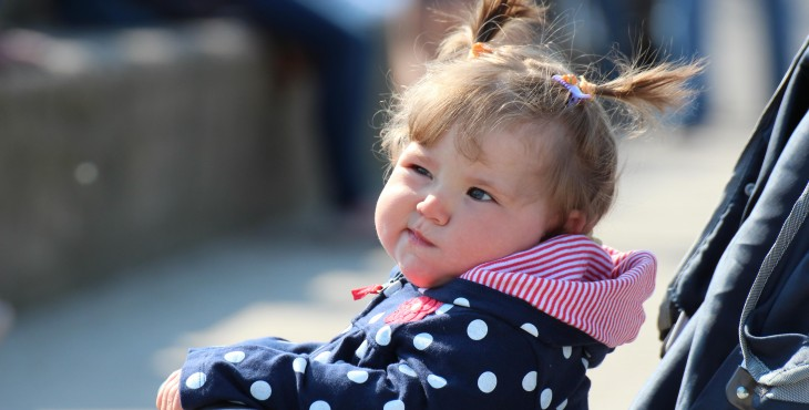 child smirking
