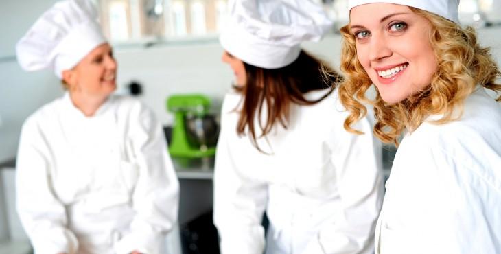female chef smiling